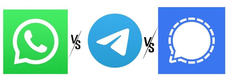 Whatsapp vs Telegram vs Signal